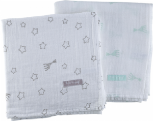 Sophie la girafe Set of 2 swaddling cloths